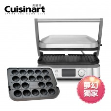 Cuisinart  液晶溫控多功能煎烤盤 與章魚燒超值組合GR-5NTW + GR-TKYP
